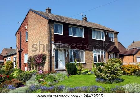 Typical english house, uk - stock photo