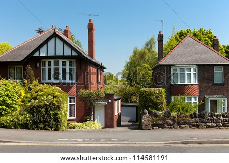 Typical english Houses - stock photo