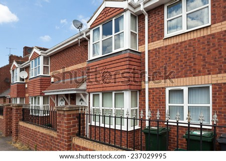 Typical english street - stock photo