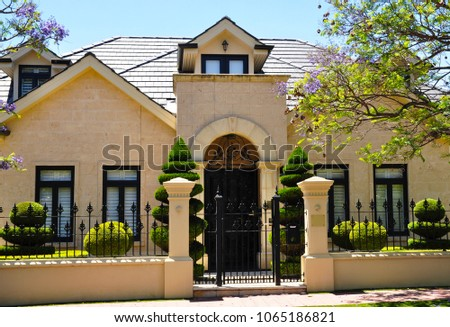 Nice Typical Example Of Australian House Facade