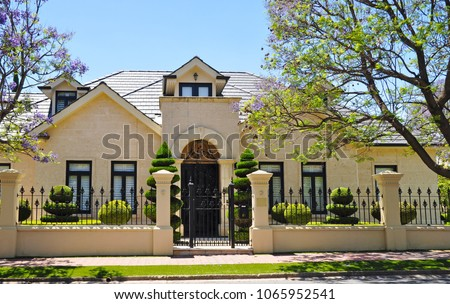 Lovely Typical Example Of Australian House Facade