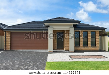 Modern House Facade Stock Images RoyaltyFree Images Vectors