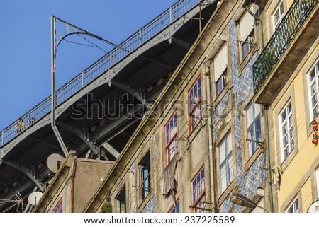 Typical facades of Porto. / Historic Center City of Porto / Porto (Portugal).  - stock photo