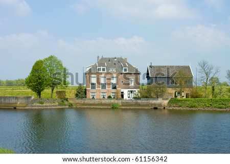 Typical family house in Netherlands - stock photo
