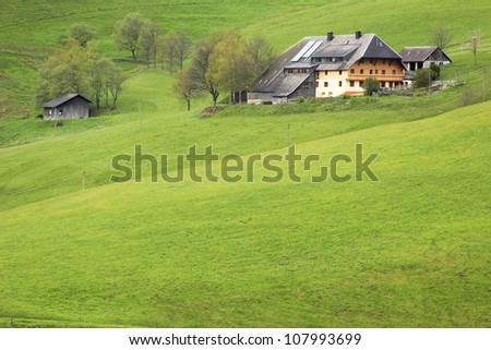 typical farm in the Black Forest, Baden-Wurttemberg, Germany,