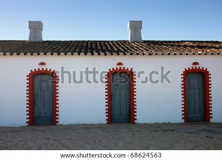 Typical fisherman house, Algarve, Portugal.