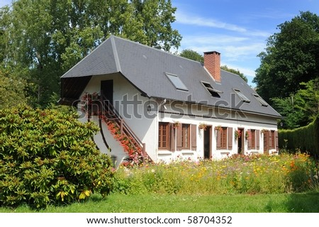 Typical french house - stock photo