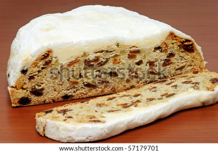 Typical German Stollen for Christmas