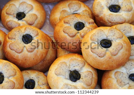 typical homemade czech cakes for every celebration - stock photo