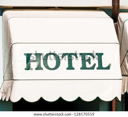 typical hotel-sign in italy - stock photo