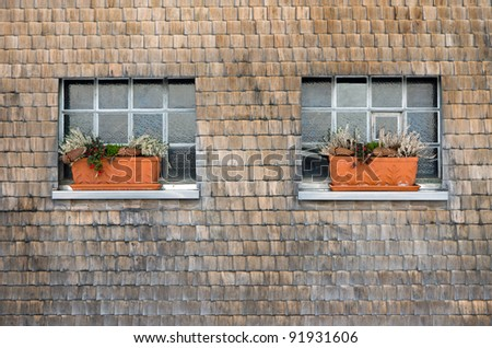 Typical house facade of the Black Forest - stock photo