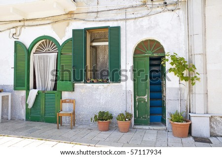 Typical house in Bari Oldtown. Apulia. - stock photo