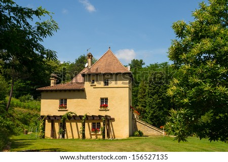 Typical house in the French Dordogne - stock photo