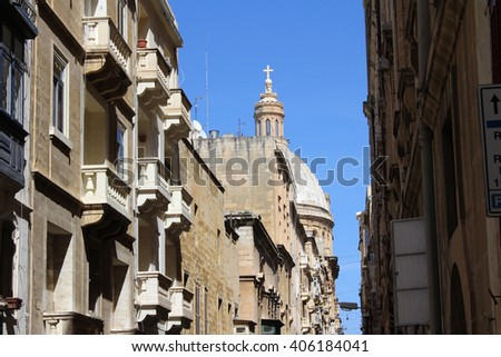 Typical House, Valletta, Republic of Malta - stock photo