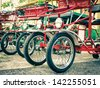 Typical Italian Rickshaws - Close Up - stock photo