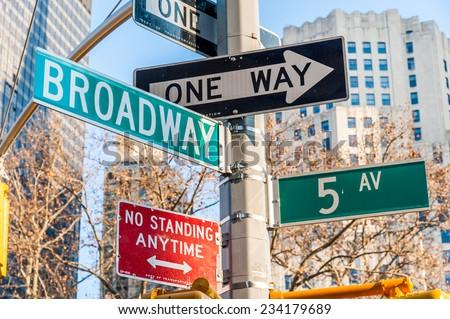 Typical Manhattan street signal - stock photo