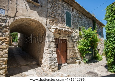 Typical medieval village in south France