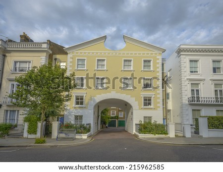 Typical Mews in Notting Hill, London, England - stock photo