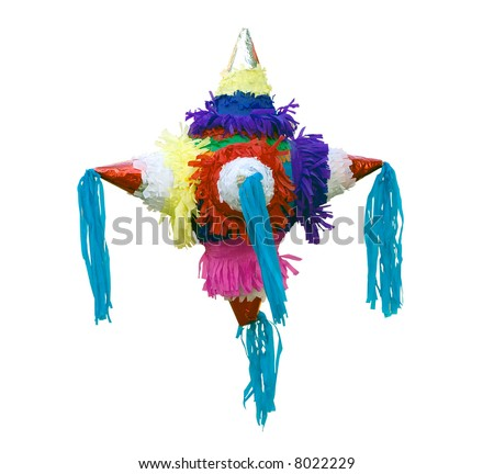 Typical Mexican pinata isolated - stock photo