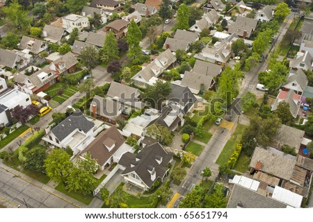 typical middle class homes - stock photo