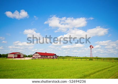 Typical Midwestern farm - stock photo