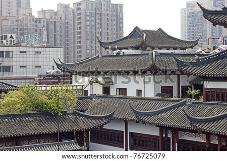 Typical old architecture of Shanghai, China - stock photo
