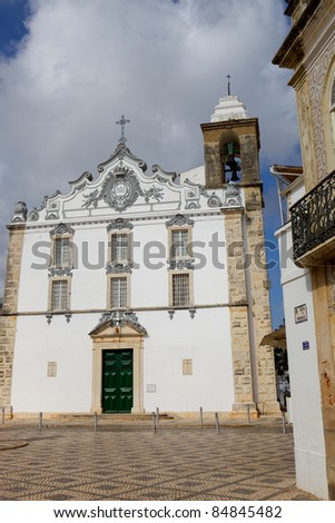 typical portuguese church in Olhao, Algarve, Portugal - stock photo