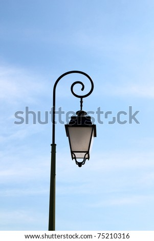 Typical provencal street light - south of France - stock photo