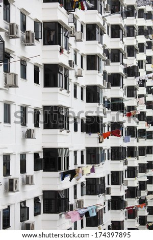 Typical public housing - stock photo