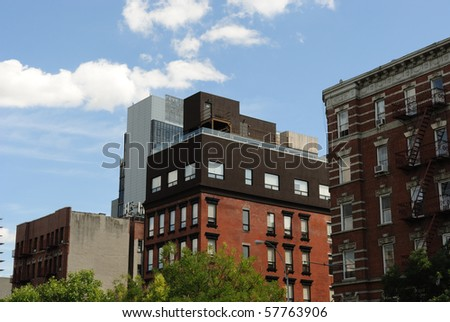 typical residential apartment buildings in new york city