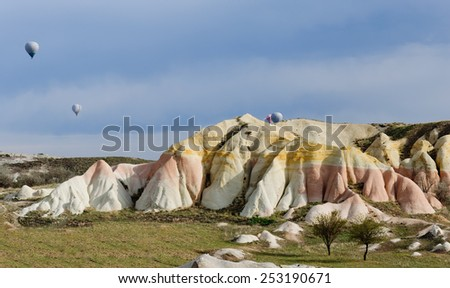 typical rock formations at the twilight  - stock photo
