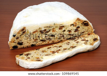 Typical saxonian christstollen