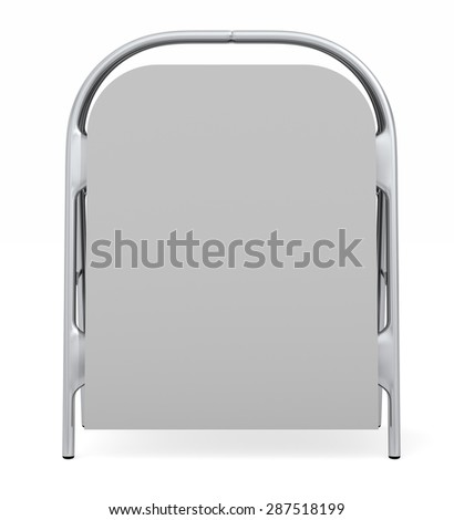 Typical sign board as found on sidewalks  - stock photo