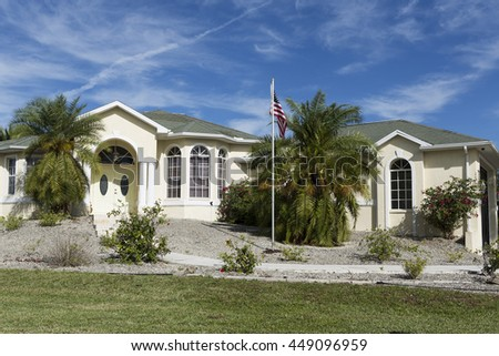 Stucco house stock images royalty free images vectors for Block home builders in florida