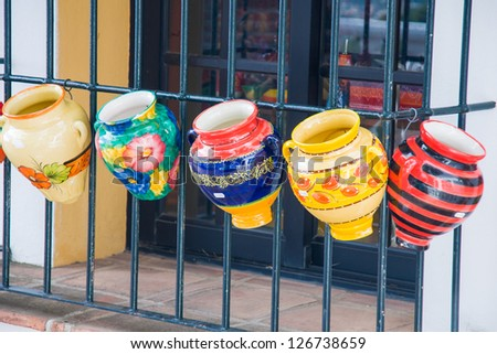typical spanish ceramic - stock photo