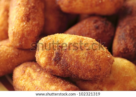typical Spanish cuisine dish chicken nuggets