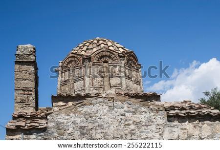 Typical stone made Greek church. Greece - stock photo