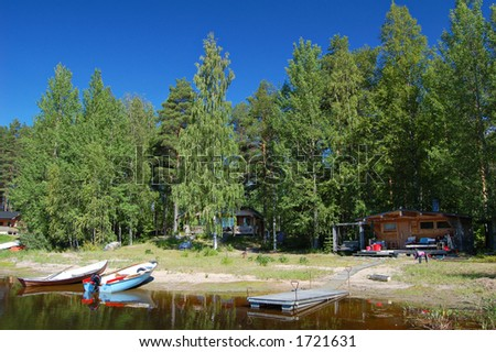 Typical summer cottage scene in Finland