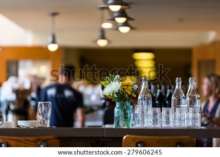 Typical Sunday at Mercantile restaurant in Denver, Colorado. - stock photo