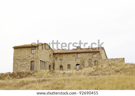 typical tuscan house - stock photo