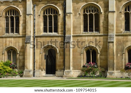 Typical university quadrangle detail - stock photo