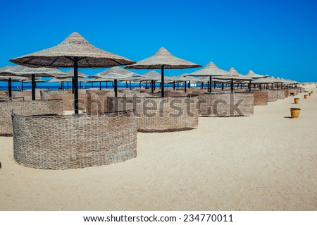 Typical unrecognizable 5 star hotel in Egypt, Africa. Holiday resort in Egypt. sharm el sheikh. hurgada. - stock photo