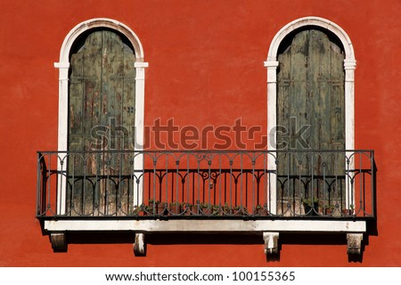 Italian balconies stock images royalty free images for Balcony in italian