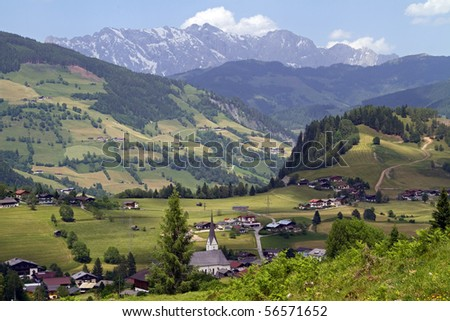 Typical view of Austria - stock photo
