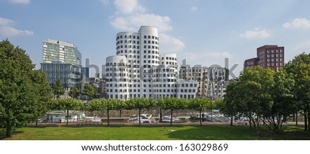 Typical view of the city of Dusseldorf in Germany - stock photo