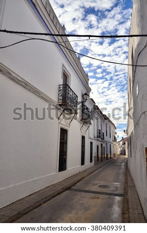 Typical white Spanish village in Andalusia region