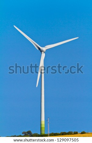 Typical windmill or aerogenerator of aeolian energy
