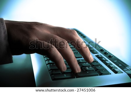 typing - stock photo