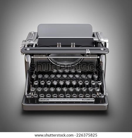 Typing Machine. High resolution 3d - stock photo