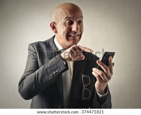 Typing on the phone - stock photo